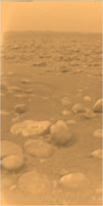 Space probe - The Huygens landing site on Titan