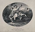 Hymen and Cupid. Steel engraving by E. Chavane after W. Hoga Wellcome V0049244.jpg