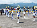 I-Lan Commerical Vocational Senior High School Marching Band Line up before Performance 20130504.jpg