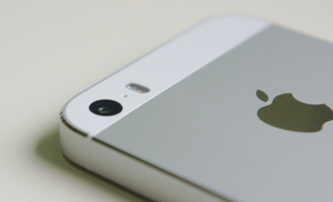 "IPhone 5S - The camera has a f/2.2 aperture and has dual ""True Tone"" flashes."