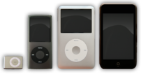 There are the current models of the iPods from...