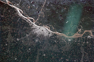 Greater Rosario - Rosario and its region from space.