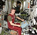 ISS-11 Sergei Krikalev tests hardware for the ATV in the Zvezda Service Module.jpg