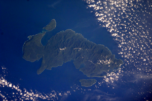 Santa Cruz Islands - NASA picture of Nendo, the largest of the Santa Cruz Islands
