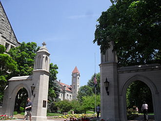 Indiana University Bloomington - The Sample Gates, the main entrance to the Indiana University Bloomington Campus
