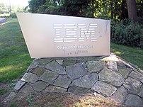 Entrance of IBM Headquaters, Armonk, New York,...