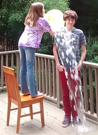 Ice bucket challenge with sister 2