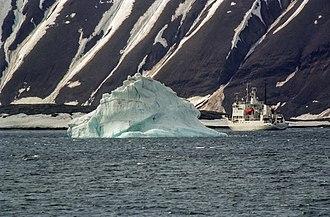 Hornsund - Polish research vessel at Hornsund