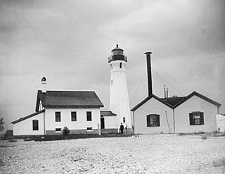 Ile Aux Galets Light lighthouse in Michigan, United States