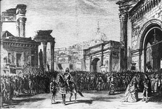 Rienzi - Last scene of act 3 of Rienzi at the Théâtre Lyrique, 1869