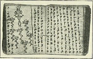Batak - Bark book with charms written in native Batak script, 1910.
