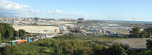 Sochi Olympic Park - Panorama showing the construction of Sochi Olympic Park