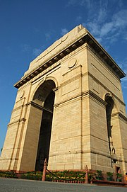 The India Gate commemorates Indian soldiers who died in World War I
