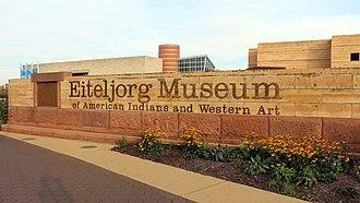 Eiteljorg Museum of American Indians and Western Art - Eiteljorg Museum entrance from Washington Street.