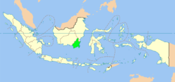Location of South Kalimantan in Indonesia