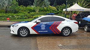 Highway patrol - Indonesian traffic police highway patrol car
