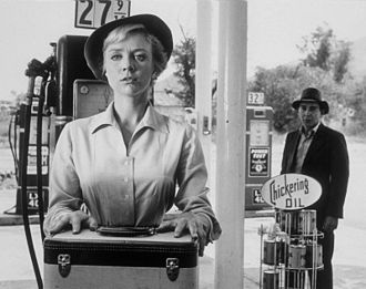 The Hitch-Hiker (The Twilight Zone) - Inger Stevens in a scene from the episode