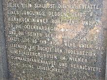 Inschrift des Grabes von Otto Weininger.JPG