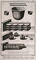 Instruments used in the refining of saltpetre. Etching by Bé Wellcome V0023591ER.jpg