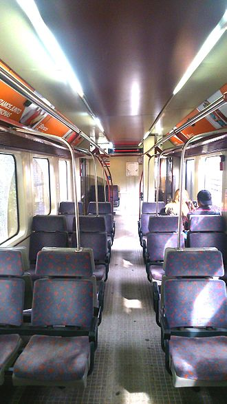Rail transport in Costa Rica - Interior of an Incofer Apolo 2400 type DMU.