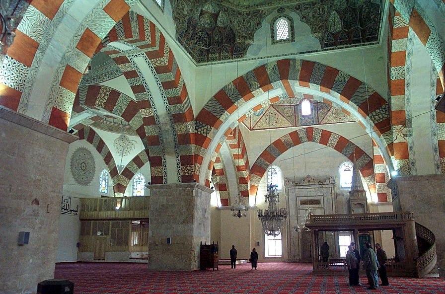 Interior of Old Mosque in Edirne