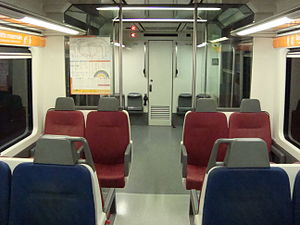 Barcelona–Vallès Line - Interior of a 112 Series train.