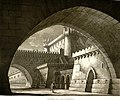 Interno di una Fortezza, bozzetto di Antonio Basoli per Blondello (1819) - Archivio Storico Ricordi ICON011800.jpg