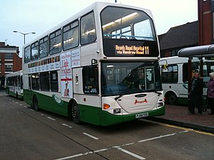 Ipswich Buses - Scania OmniDekka at Ipswich Tower Ramparts bus station in December 2010