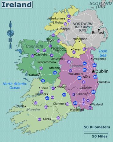 Cartina Geografica Irlanda Del Sud.Irlanda Wikivoyage Guida Turistica Di Viaggio