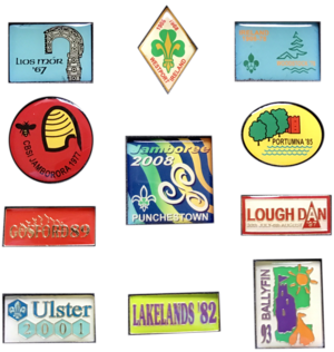 Irish Scout Jamboree - emblems used for previous Irish Scout Jamborees