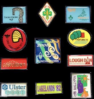 Irish Scout Jamboree - emblems used for previous Irish Scout Jamborees