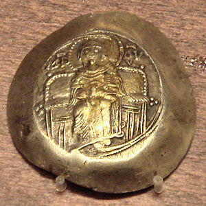 Electrum coin of Isaac II Angelos