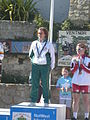 Island Games 2011 women's Town Centre Criterium cycling gold medal winner.JPG
