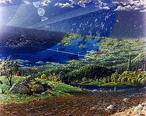Don Davis (artist) - Interior of an Island Three space habitat