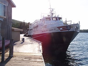 Isle Royale Queen IV berthed in Copper Harborn