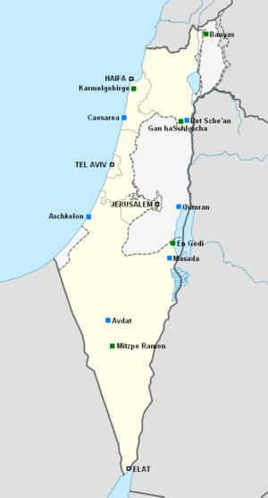 Israel Karte.Israelische National Und Naturparks Reiseführer Auf Wikivoyage