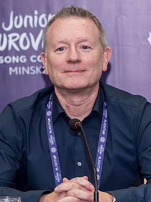 JESC 2018. Jon Ola Sand during press conference (2) (cropped).jpg