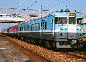 Nanao Line - A JR West 415-800 series EMU used on the Nanao Line