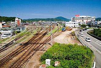 Toyooka, Hyōgo - Fukuchiyama branch office of JR West on Toyooka.