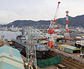 JS Ise (DDH-182) in dry dock No.4 of Japan Marine United Kure, -22 Mar. 2013 a.jpg