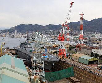 Japan Marine United - JDS Ise (DDH-182) at JMU's Dry Dock No.4, Kure, Hiroshima