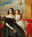 Jacobus Josephus Eeckhout - Madame Chesnaye and her Daughter.jpg