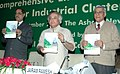 Jairam Ramesh releasing the book entitled 'Criteria for Comprehensive Environmental Assessment of Industrial Clusters'.jpg