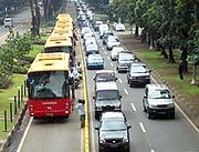To reduce traffic congestion, a new TransJakarta bus system was introduced.