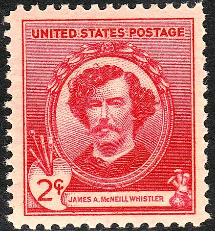 James Abbott McNeill Whistler Honored on Issue of 1940 James A M Whistler 1940 Issue-2c.jpg