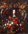 Jan davids de heem-fleurs avec portrait guillaume III d'Orange.jpg