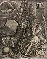 Jan wierix, melancolia I (da dürer), 1602, bulino (coll. gollini).jpg