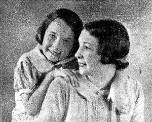 Jane Scott, Duchess of Buccleuch - Jane McNeill and her mother in Shanghai in 1938