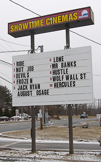 Dump months - Image: January 2014 movie marquee