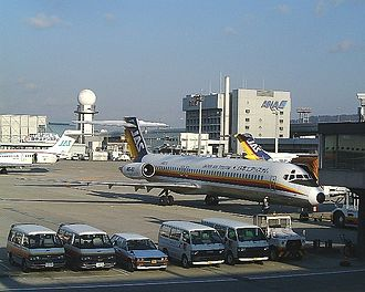 Japan Air System - All MD-80 series aircraft that were operated by Japan Air System; (Left to Right) MD-90, MD-87, MD-81.